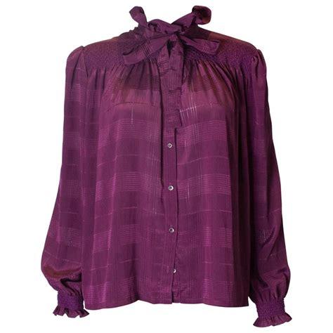 vintage jaeger purple blouse  sale  stdibs