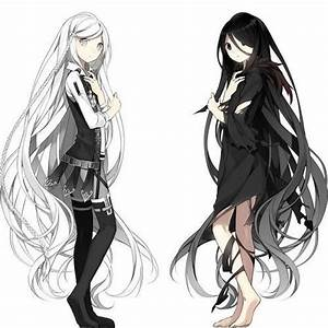 Black and White Twins | Anime Art | Pinterest | Black ...