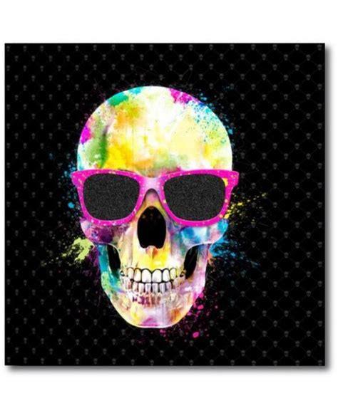 tableau design squelette multicolore cr 233 er une d 233 co design avec cette toile 224 paillettes
