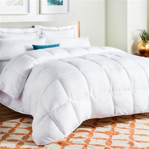 Cal King Alternative Comforter by Linenspa All Season White Alternative Cal King