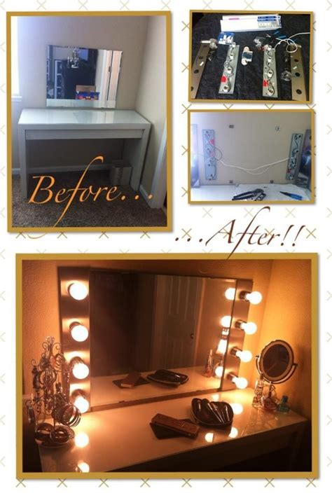 diy hollywood makeup vanity light mirror click remote