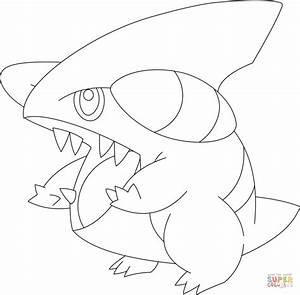 pokemon mega garchomp coloring pages images pokemon images