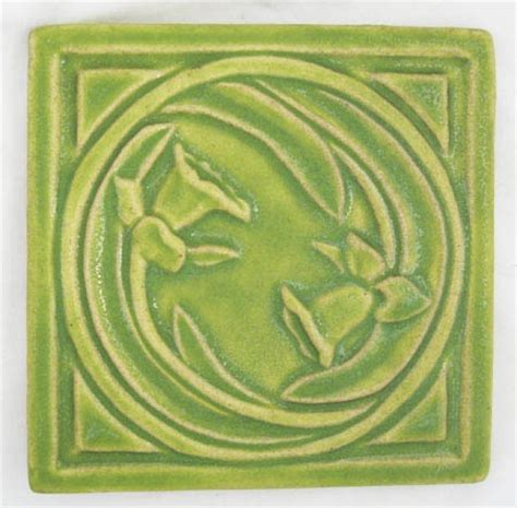 pewabic pottery daffodil tile missio style detroit original birthday flower perfection