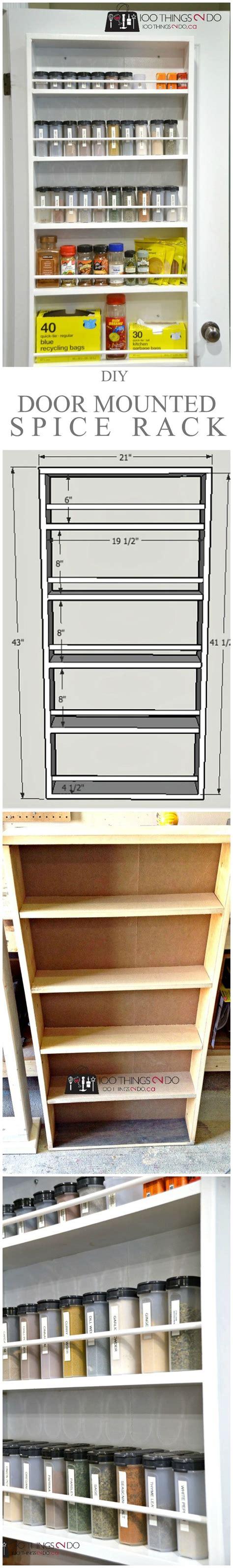 dyi kitchen cabinets best 25 door mounted spice rack ideas on 3494