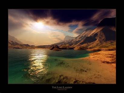 Wallpapers Landscape Inspirational Screensavers Desktop Lagoon Lost