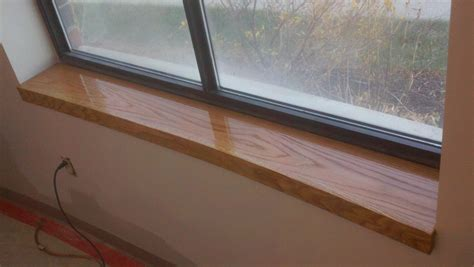 A Window Sill by Custom Oak Window Sill Northeast Custom Carpentry