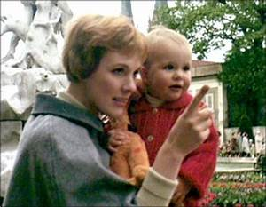 Julie Andrews with her daughter Emma during shooting for ...