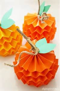 Fall Paper Pumpkin Craft