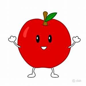 Free Cute apple character image Free Cartoon & Clipart ...