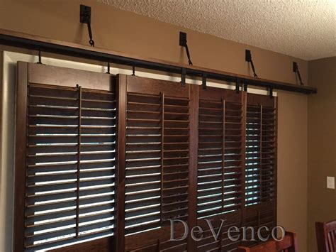 Shutters For Sliding Glass Doors by Plantation Shutters Barn Door Style For Sliding Doors