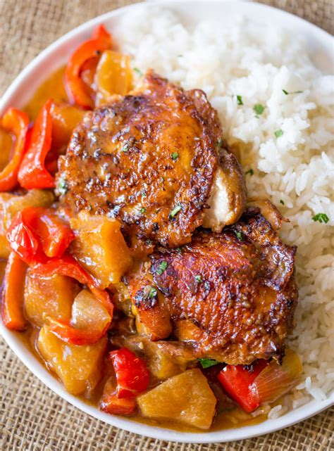 kitchen islands and breakfast bars cooker hawaiian pineapple chicken dinner then dessert