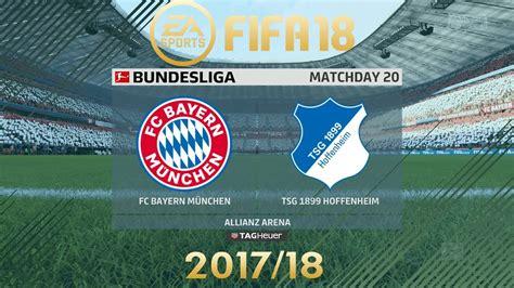 Predictions & head to head stats for bayern münchen vs. FIFA 18 FC Bayern München vs Hoffenheim | Bundesliga 2017 ...