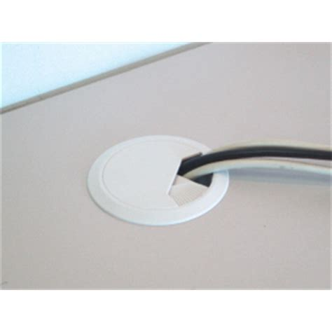 desk cord hole cover cable management cordcovr zone desk cover white cc0192
