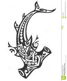 Tribal Hammerhead Shark Tattoos Hawaiian