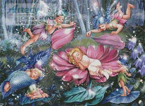 evening fairies cross stitch pattern fantasy