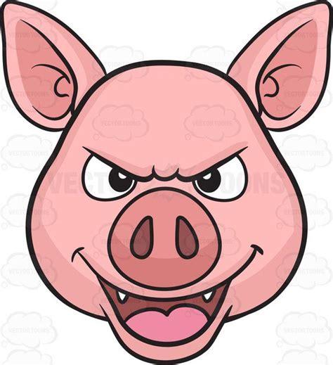 Pig Clip A Mischievous Pig Clipart Vector