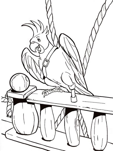 Printable Coloring Pages by Parrot Coloring Pages Printable