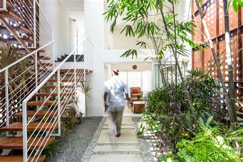 beautifully sustainable courtyard house design  india