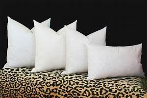 90 10 feather down pillow inserts 100 cotton cover 16x16 for Best down pillow inserts