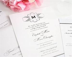 vintage wedding invitations with monogram and blue With elegant wedding invitations number