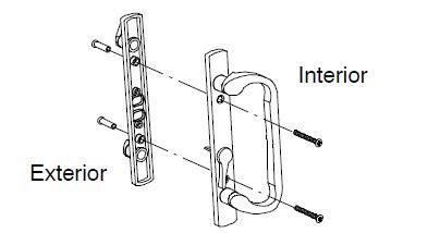marvin patio door parts handle assembly brass trimline patio door  lock marvin window