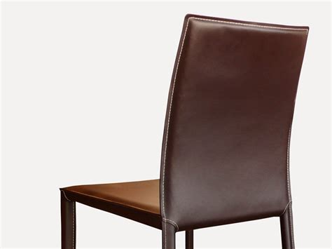chaises marron chaise en cuir costa marron