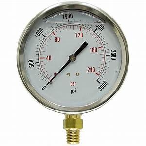 3000 Psi 4 U0026quot  Lf Lm Pressure Gauge