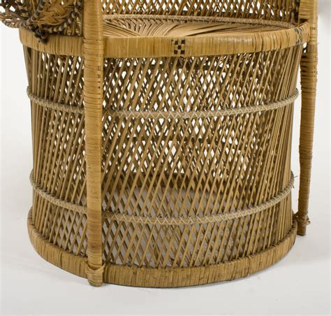 rattan peacock chair for sale antiques classifieds