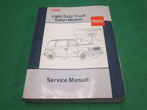 online service manuals 1996 gmc safari on board diagnostic system 89 1989 gmc safari m van repair guide service manual mechanic technical info ebay