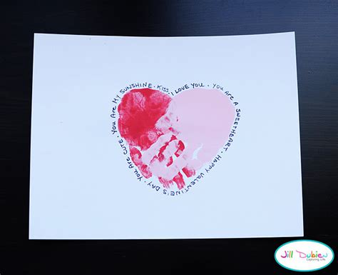 valentines day cards preschool handprint hearts family crafts 334