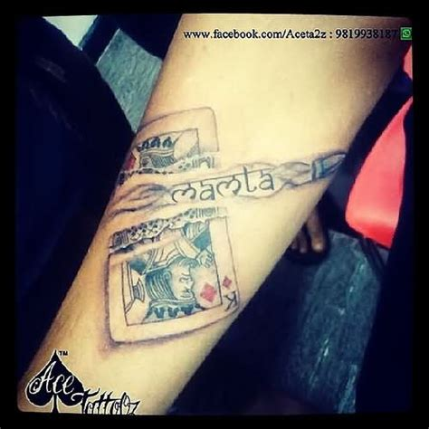 Images Of King And Queen Cards Tattoo Summer