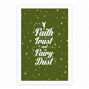 Faith trust and fairy dust poster lookhuman for Good look faith trust and pixie dust wall decal