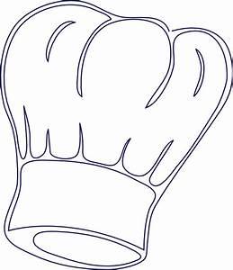 Outlined Chef Hat Clip Art at Clker com - vector clip art