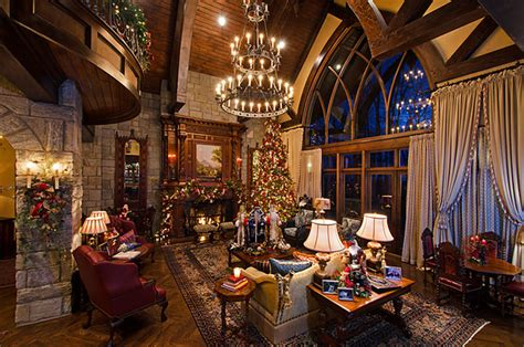 gothic castle christmas traditional living room