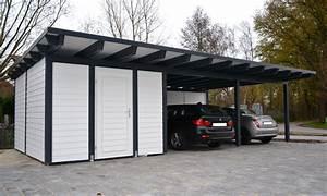 Doppelcarport Mit Abstellraum : doppelcarport als flachdach mit abstellraum rietberg ~ Articles-book.com Haus und Dekorationen