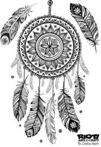 Heart Dream Catcher Coloring Page Adult