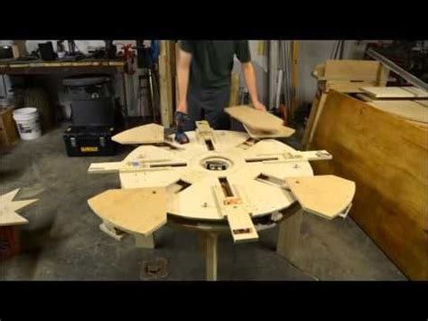 Wooden Expanding Table Table Assembly Time Lapse