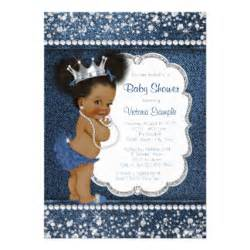 diamonds and pearls baby shower denim and diamonds invitations announcements zazzle