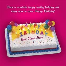 beautiful birthday greeting card with cake wishes greeting card
