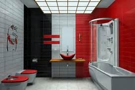 Bathroom Black Bathroom Designs Modern Red And Black Bathroom