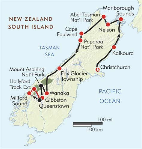 New Zealand South Island Adventure Itinerary And Map