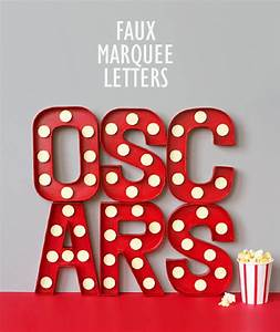 Diy letter ideas tutorials hative for Movie marquee letters
