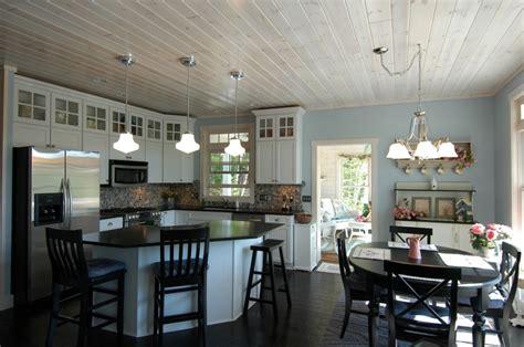 white washed pine ceiling boathouse reno ideas