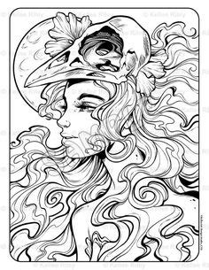 Pin by Marie Hart on Mermaid Coloring Sheets | Coloring