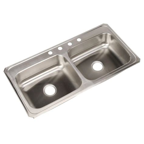 stainless steel drop in kitchen sink elkay drop in stainless steel 43 in 4 9391