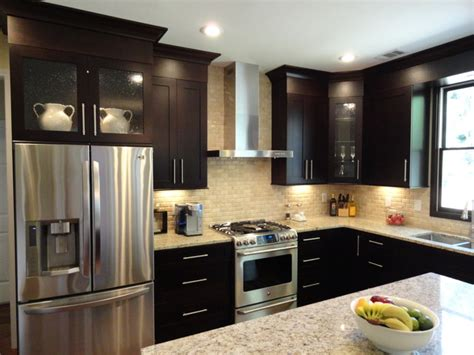 modern kitchen cabinet java cabinets kitchen kitchen design ideas 4207