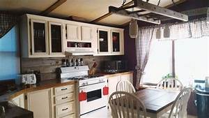 mobile home gets rustic farmhouse kitchen makeover