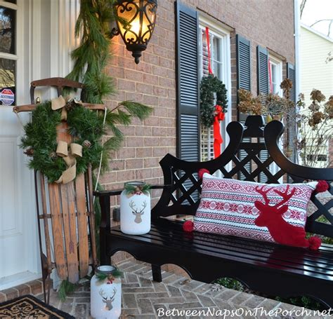 traditional christmas decorations   front porch