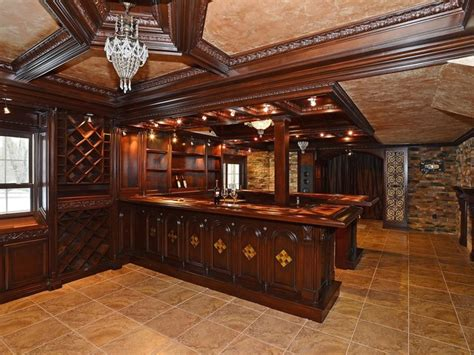 Irish Home Bar the ultimate man cave with stunning bar wine storage