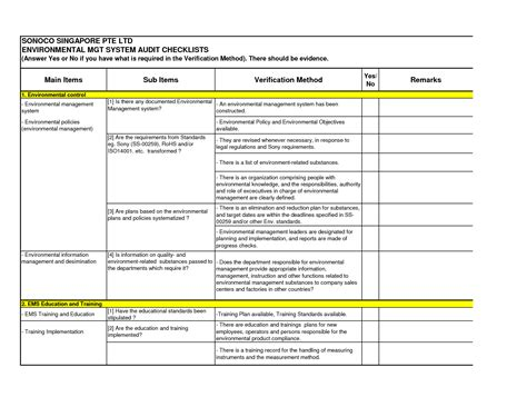 Business Process Audit Template